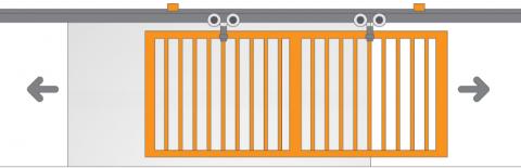 Accesorii porti suspendate (usi glisante tip hambar)